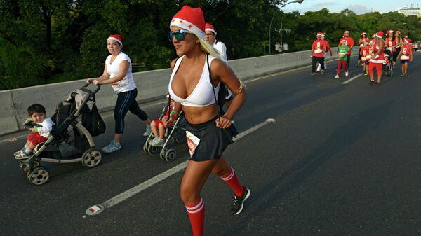 Забег Санта-Клаусов в Каракасе