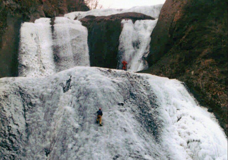 Замерзший водопад Фукурода
