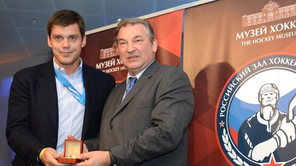 Церемония включения отечественных хоккеистов в российский Зал хоккейной славы
