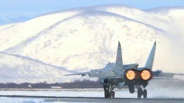 Воздушная дуэль истребителей МиГ-31БМ