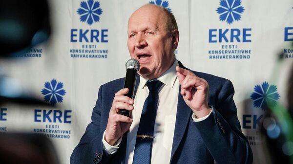 Глава МВД Эстонии, председатель Консервативной народной партии Март Хельме