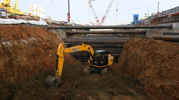 Мэр Москвы С. Собянин осмотрел тоннелепроходческий комплекс Коммунарской линии метро