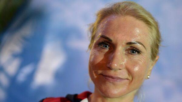 Велосипедистка Ольга Забелинская