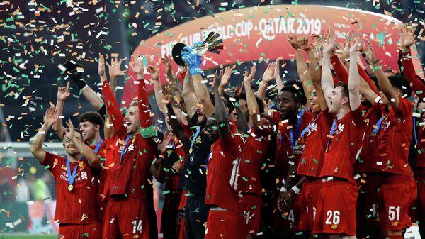 Футболисты Ливерпуля радуются победе на клубном чемпионате мира