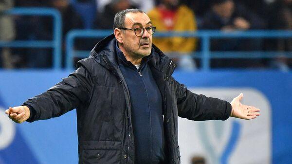 Главный тренер итальянского футбольного клуба Ювентус Маурицио Сарри