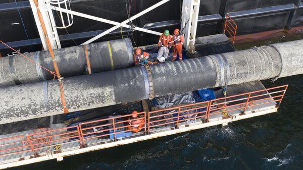 Строительство трубопровода Северный поток - 2