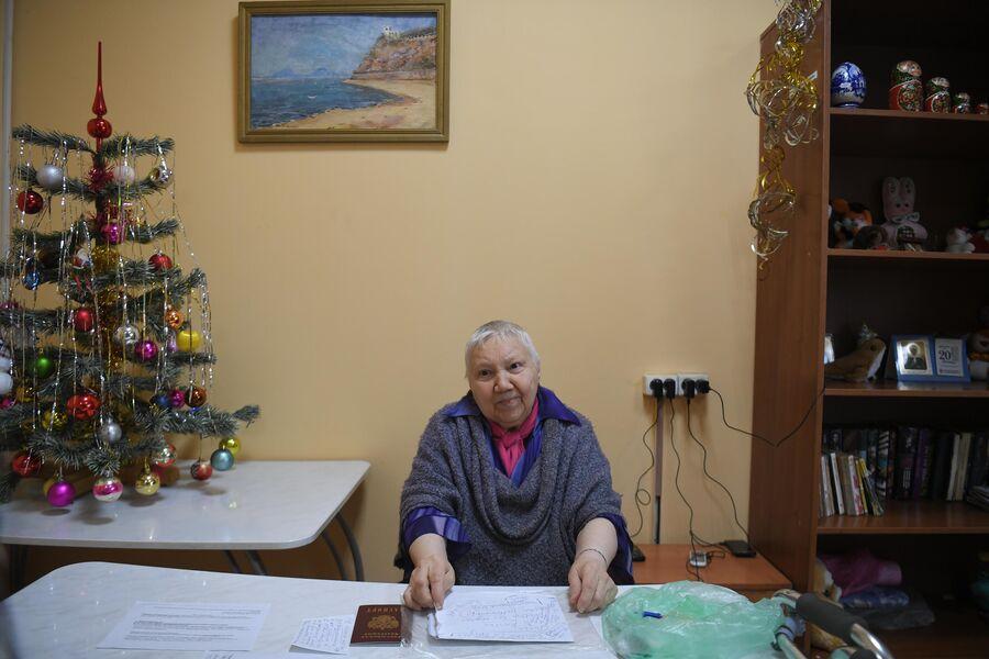 Галина Силкина в Центре социальной адаптации для бездомных им. Е. П. Глинки