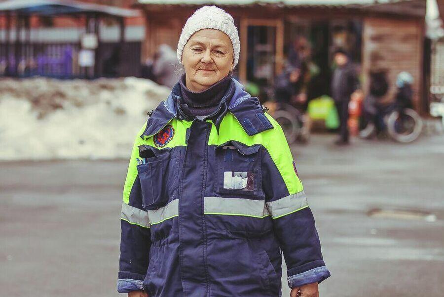 Сотрудник социального патруля Елена Гаранина