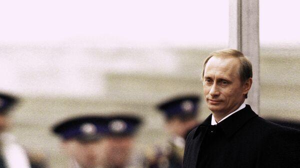 Владимир Путин во время церемонии инаугурации