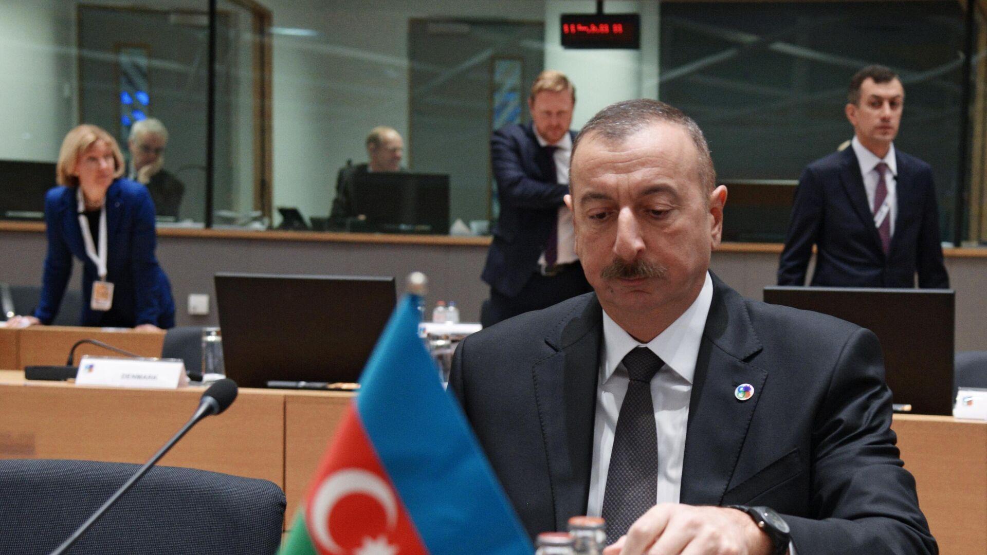 Президент Азербайджана Ильхам Алиев на 5-м Саммите Восточного партнерства в Брюсселе - РИА Новости, 1920, 11.10.2020