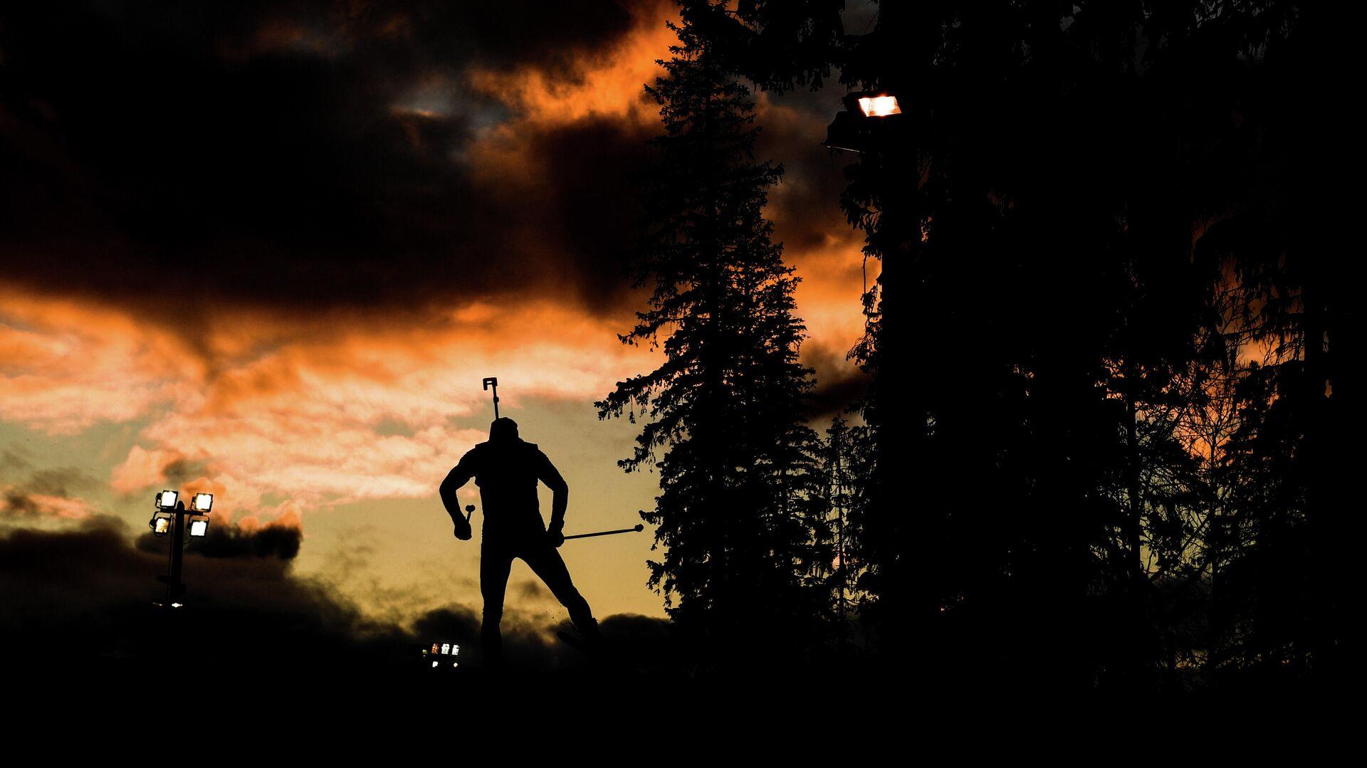 Спортсмен на дистанции спринтерской гонки в Эстерсунде - РИА Новости, 1920, 13.02.2021