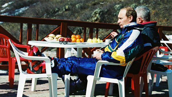 Фотография Владимира Путина на горнолыжной базе Абзаково, опубликованная на сайте 20.kremlin.ru