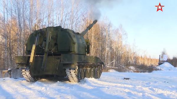 Опубликовано видео испытаний  артиллерийской установки Коалиция-СВ
