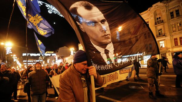 Шествие в честь Степана Бандеры в Киеве