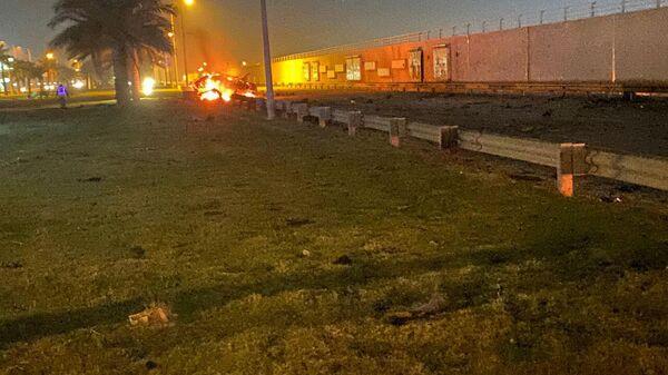 Фрагмент автомобиля в котором погиб генерал Касема Сулеймани в результате обстрела американскими ракетами международного аэропорта Багдада