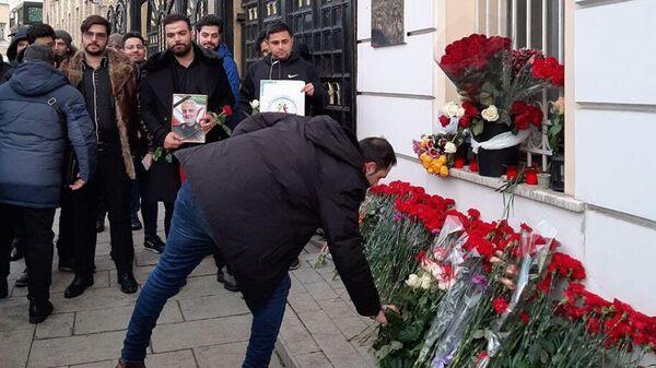 Акция в память о генерале Сулеймани у посольства Ирана в Москве