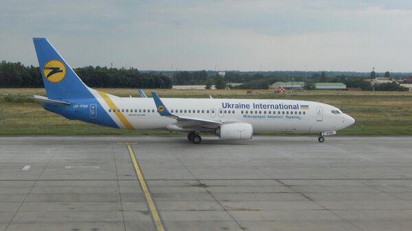 Самолет Boeing 737-8KV с бортовым номером UR-PSR авиакомпании Международные авиалинии Украины