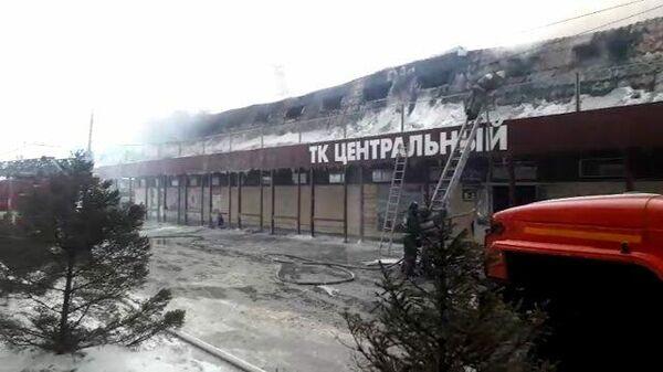 Пожар в Новосибирской области: кадры с места ЧП