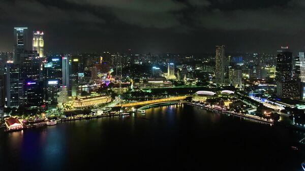 Сингапур. Вид с отеля Marina Bay Sands