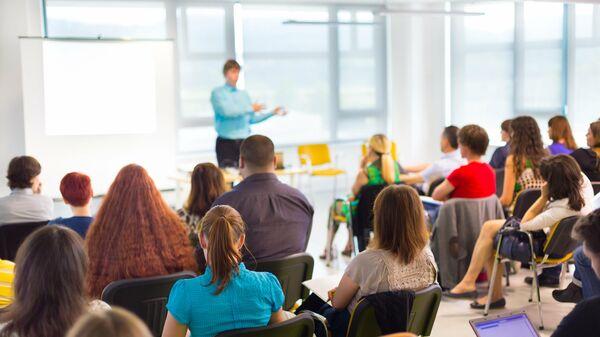 Слушатели на лекции