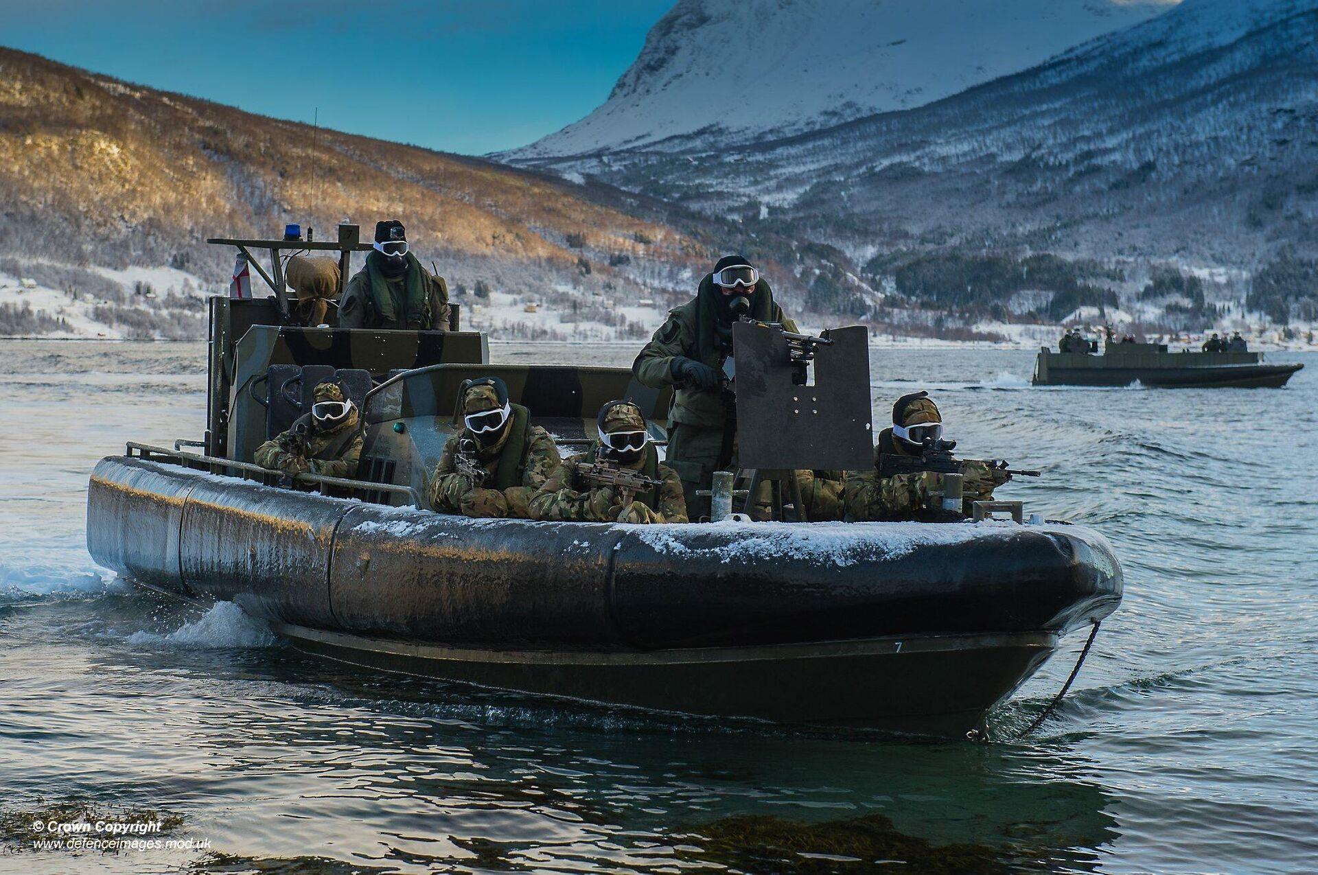 Британские военные во время учений НАТО в Норвегии - РИА Новости, 1920, 21.01.2021