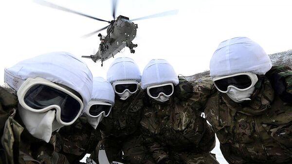 Королевские морские пехотинцы во время учений в Норвегии