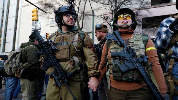 Митинг сторонников огнестрельного оружия в Ричмонде, США