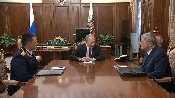 Путин провел встречу с Чайкой и Красновым
