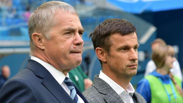 Александр Медведев (слева) и Сергей Семак