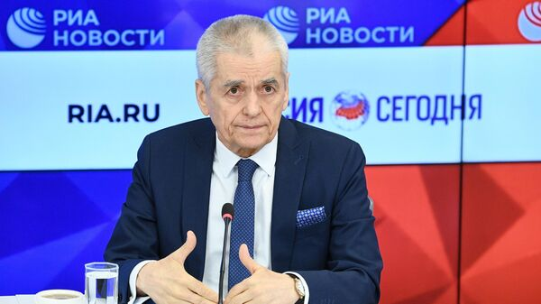 Геннадий Онищенко во время пресс-конференции на тему: Новый коронавирус: правда и вымысел в Международном мультимедийном пресс-центре МИА Россия сегодня