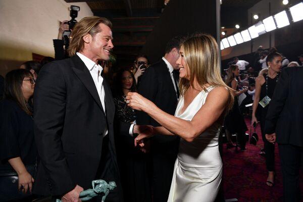Брэд Питт и Дженнифер Энистон на 26-й ежегодной премии Гильдии киноактеров США в Лос-Анджелесе