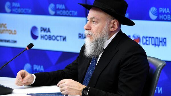 Александр Борода во время пресс-конференции в Международном мультимедийном пресс-центре МИА Россия сегодня