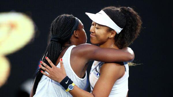 Кори Гауфф и Наоми Осака после матча третьего круга Australian Open