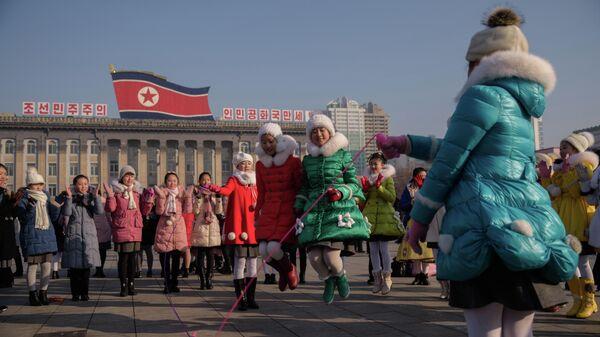 Празднование Нового года по лунному календарю в Пхеньяне, КНДР