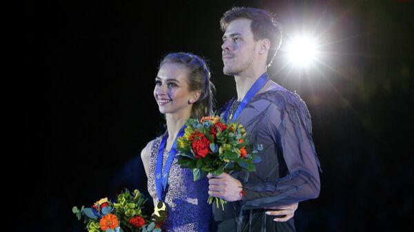 Фигуристы Виктория Синицина и Никита Кацалапов (Россия)