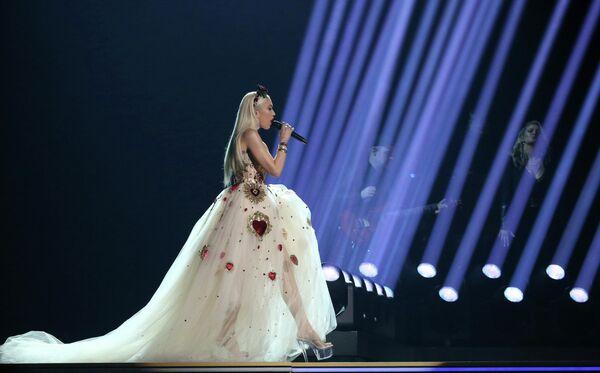 Гвен Стефани во время выступления на церемонии вручения премии Грэмми в Лос-Анджелесе
