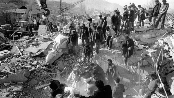 Землетрясение в Спитаке. Архивное фото