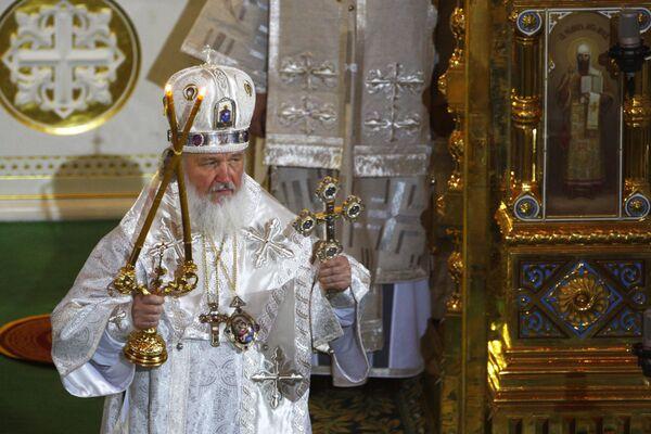 В храме Христа Спасителя проходит отпевание патриарха Алексия II