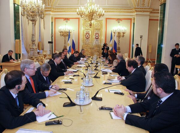 Российско-аргентинские переговоры в Кремле