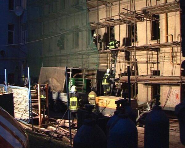 Здание обрушилось на Старом Арбате. Один человек погиб