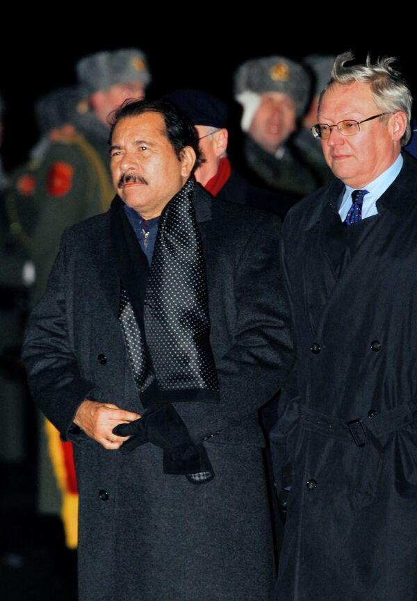 Президент Никарагуа Даниэль Ортега прибыл в Москву с официальным визитом