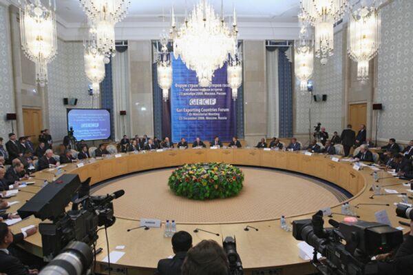 Заседание седьмой министерской встречи Форума стран-экспортеров газа в гостинице «Президент-отель»