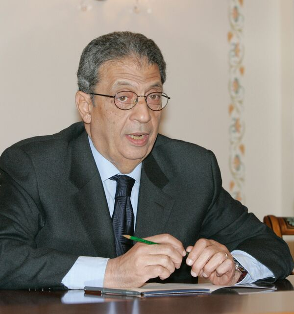 Генеральный секретарь Лиги арабских государств (ЛАГ)  Амр Муса. Архив