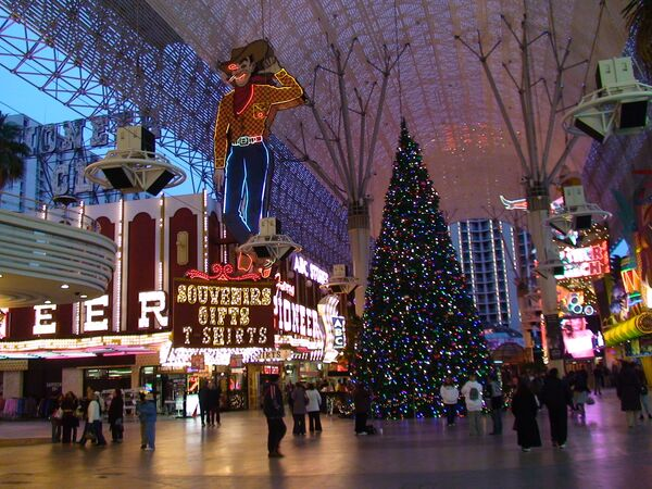 Игорная столица мира Лас-Вегас встречает Новый год