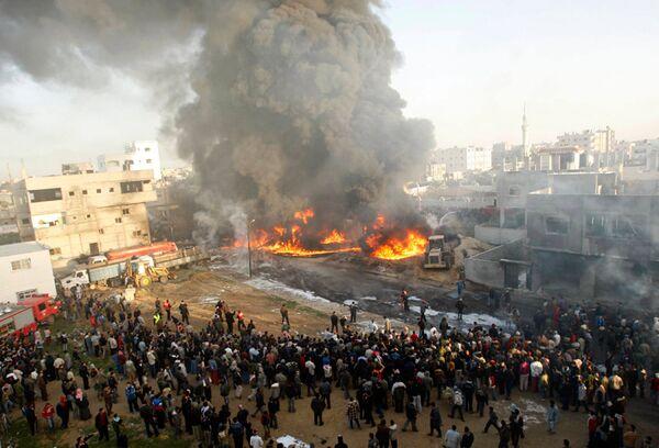 Израиль атаковал сектор Газа