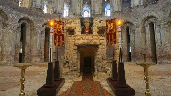Кувуклия Гроба Господня в Воскресенском соборе Новоиерусалимского монастыря. Архивное фото