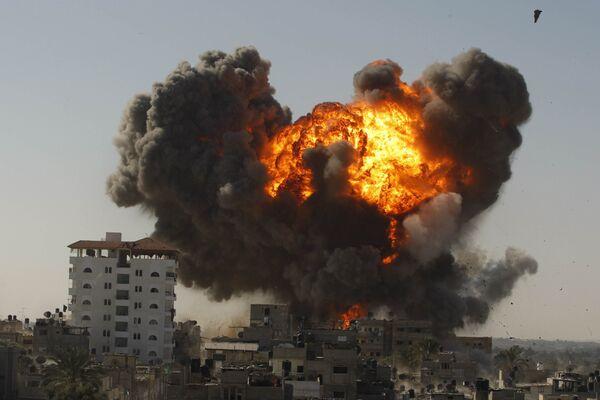 Израильские бомбардировки палестинского города Рафах