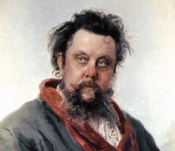 Художник И.Е.Репин (1844-1930). Портрет композитора М.П.Мусоргского. 1881 г.