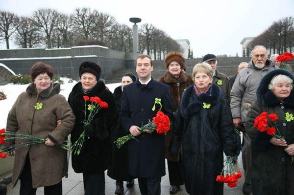 Празднование 65-й годовщины снятия блокады