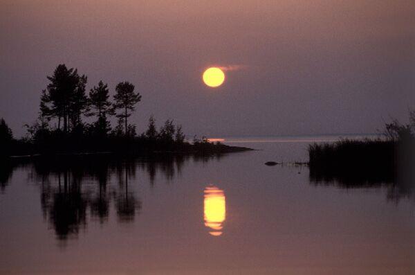 Остров Валаам ночью